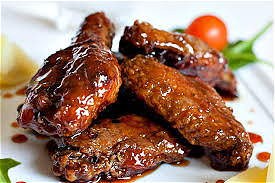 Foto Sticky wings menu